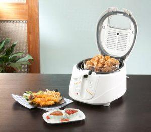 Alimentos fritos preparados con una freidora de aire