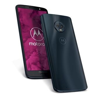 Frontal y trasera del Motorola G6 en color negro