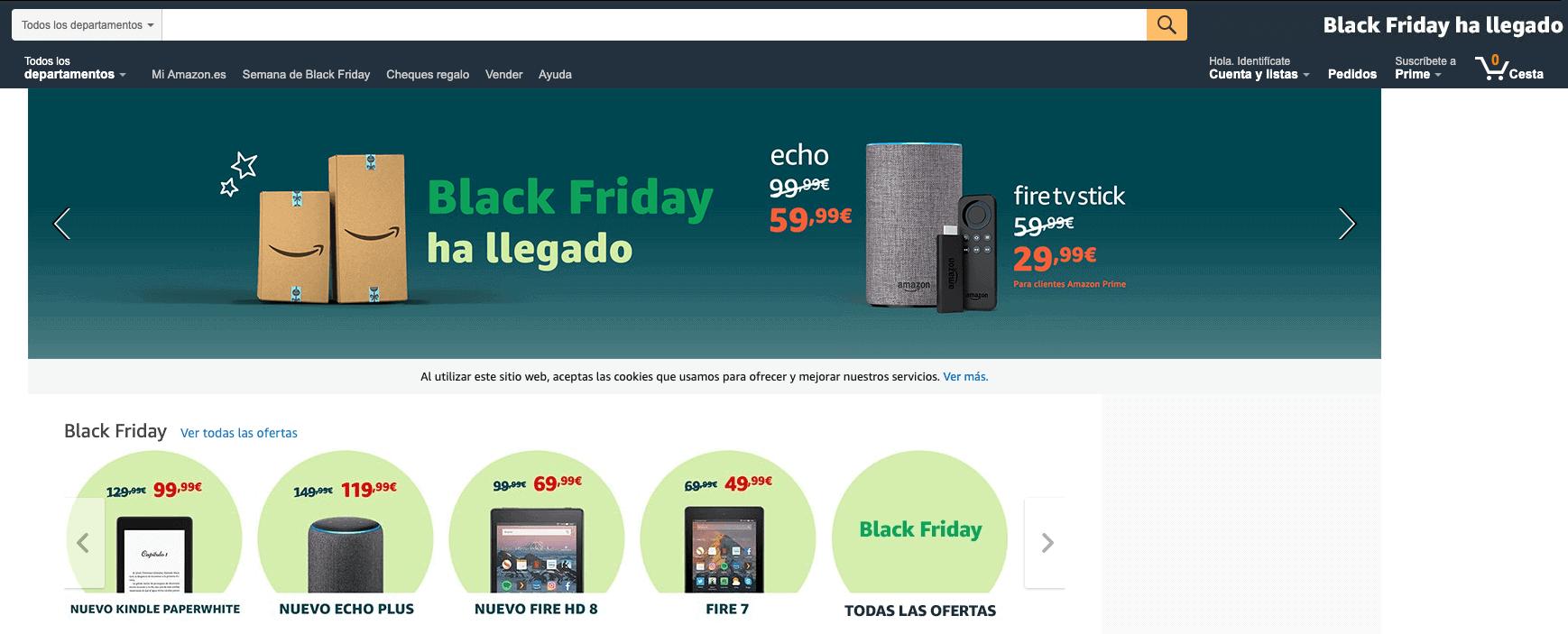 Ofertas Black Friday Amazon