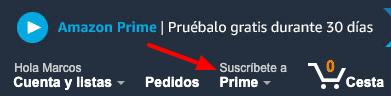 Suscripcion a Amazon Prime