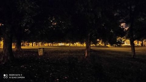 foto nocturna Redmi Note 9