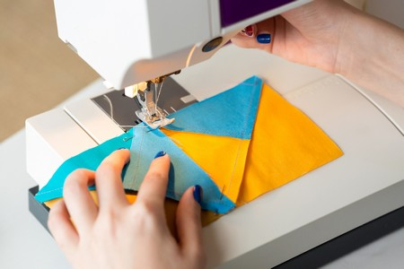 máquina de coser patchwork